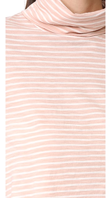 Madewell The Song Stripe Wispy Turtleneck