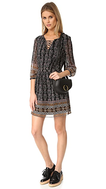 Madewell Lace Up Border Dress