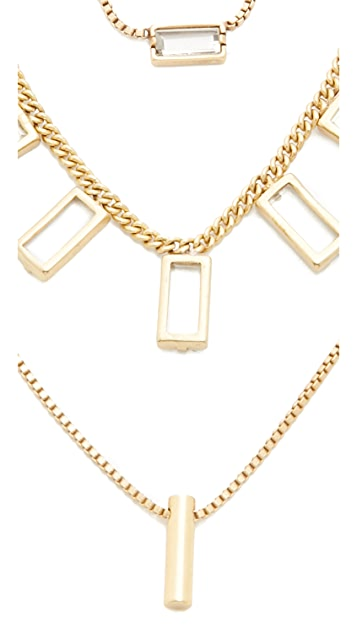 Madewell Crystal & Stick Necklace Set