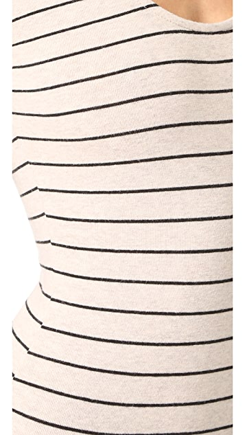 Madewell Stevie Striped Long Sleeve Bodysuit