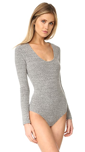1e27b58711b Stevie Scoop Neck Long Sleeve Bodysuit