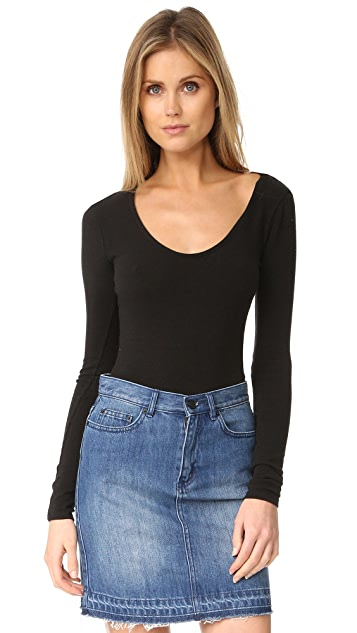 Madewell Stevie Scoop Neck Long Sleeve Bodysuit