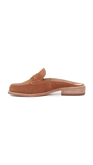 Madewell Elinor Suede Loafer Mules