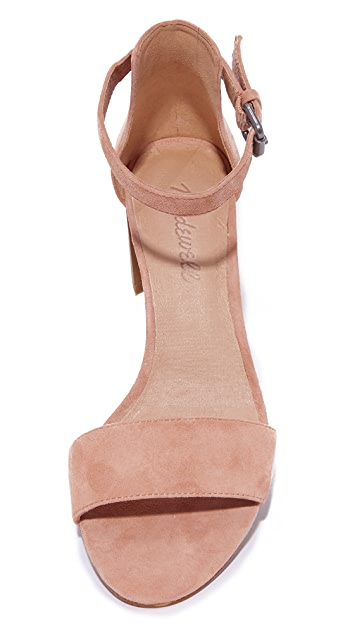Madewell Lainy Ankle Strap City Heels