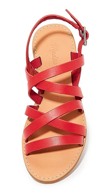 Madewell Boardwalk Multi Strap Sandals