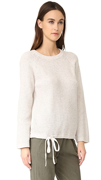 Madewell Wafflestitch Drawstring Sweater