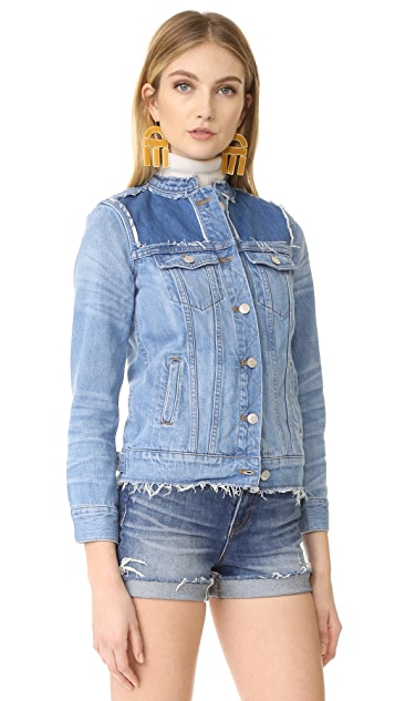 Madewell Collarless Jean Jacket