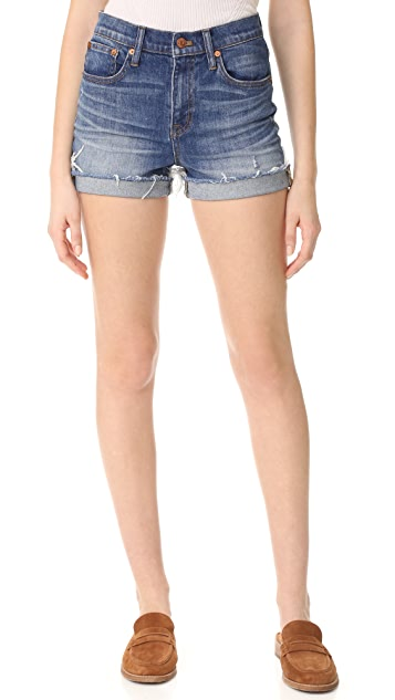 6f24843ce Madewell High Rise Denim Boy Shorts in Glen Oaks | SHOPBOP