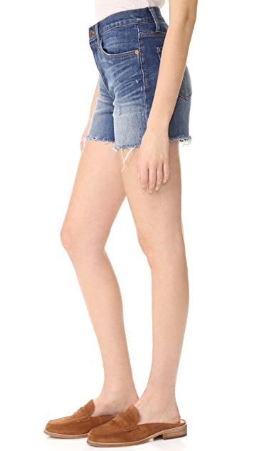 9f57bc90636 ... Madewell High Rise Denim Boy Shorts in Glen Oaks ...