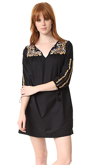 Madewell Slit Sleeve Embroidered Dress