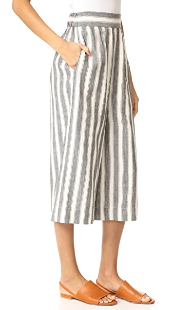Madewell High Rise Cropped Pull On Culottes
