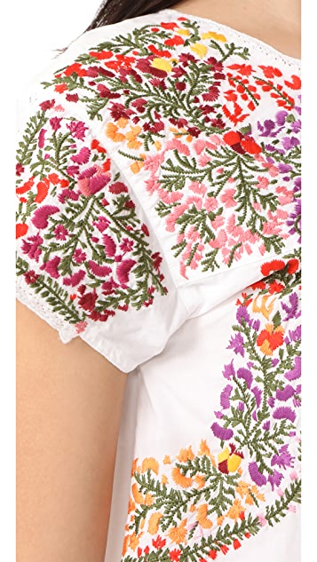 Madewell Fleur Embroidered Top