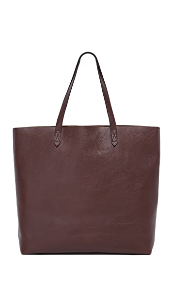 Madewell Transport Tote - Dark Cocoa