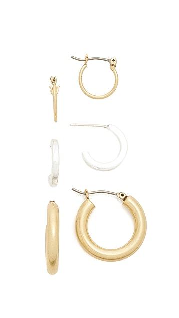 Madewell Multi Hoop Earring Pack