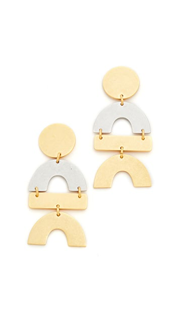 Madewell Mixed Statement Earrings