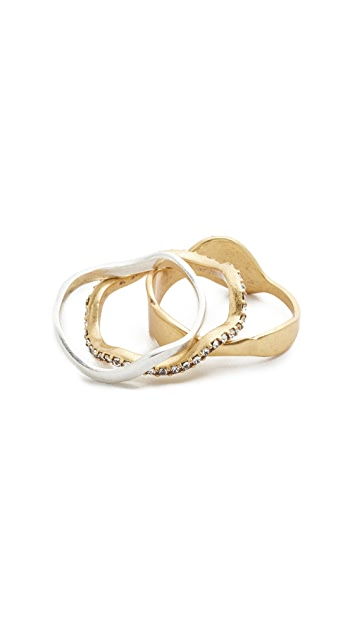 Madewell Wave Ring Stack