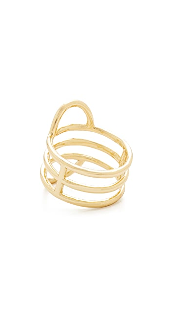Madewell Double Arc Fixed Stack Ring