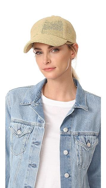 Madewell Paper Straw Baseball Hat