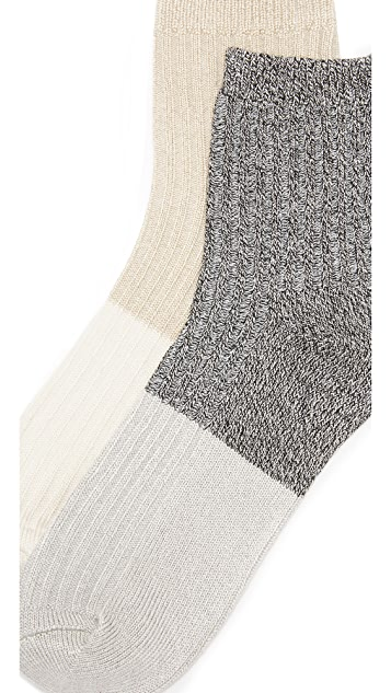 Madewell Colorblock Mid Ankle Sock 2 Pack