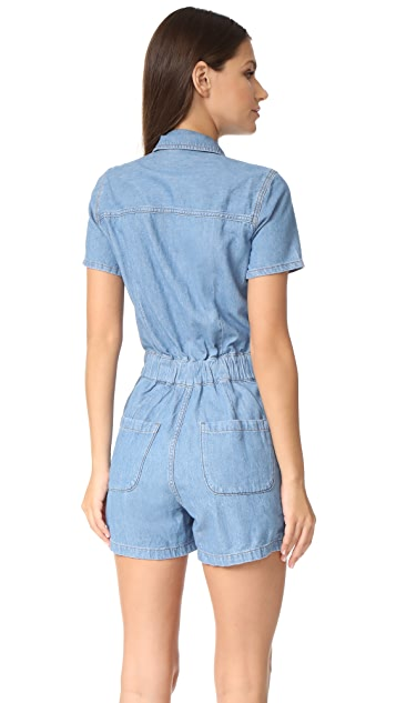 Madewell Denim Zip Romper
