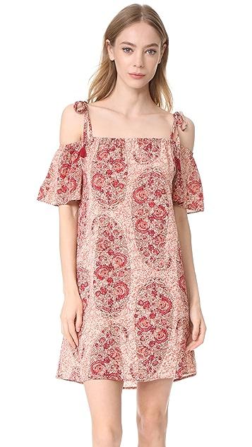 Madewell Silk Cold Shoulder Dress