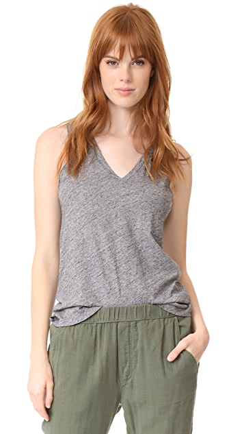 d29383c6bb509 Madewell Whisper Cotton V Neck Tank ...