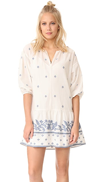 Madewell Jacquard Long Sleeve Tunic Dress