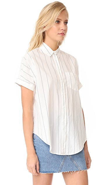 Madewell Short Sleeve Tie Front Shirt