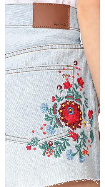 Madewell The Perfect Jean Shorts: Embroidered Edition