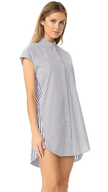 Madewell Stripe Mix Shirtdress