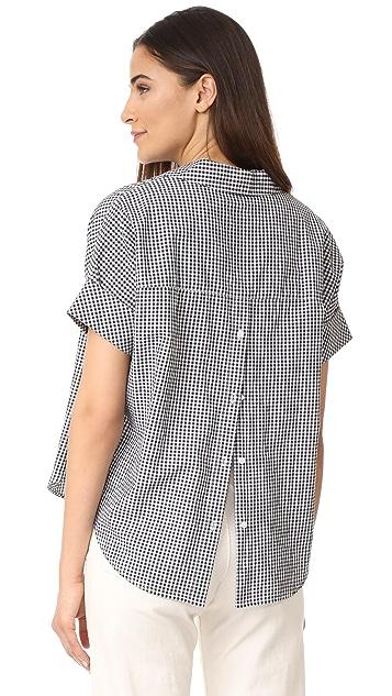Madewell Courier Button Back Shirt