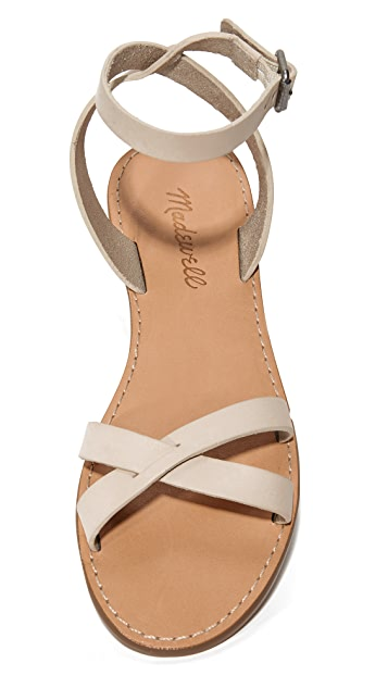 Madewell Ankle Wrap Crisscross Sandals