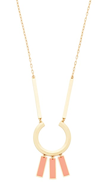 Madewell Beveled Ring Statement Necklace