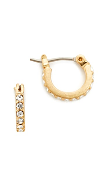 Madewell Delicate Pave Hoop Earrings