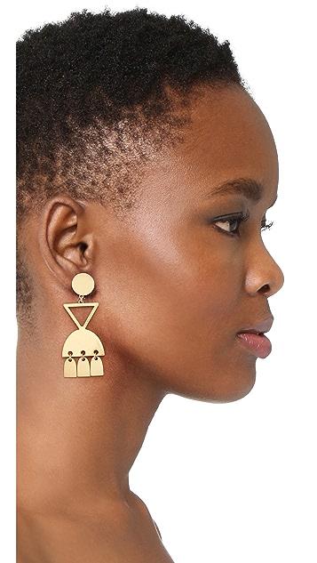 Madewell Geo Metal Statement Earrings