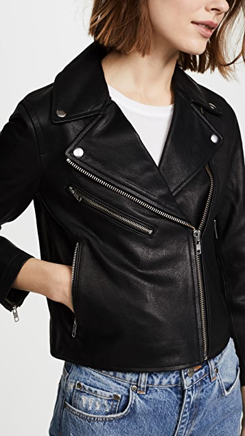 Madewell Cropped Leather Jacket
