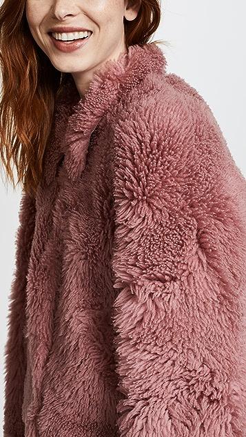 Madewell Pink Mongolian Shearling Jacket
