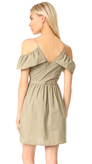 Madewell Khaki Cold Shoulder Dress
