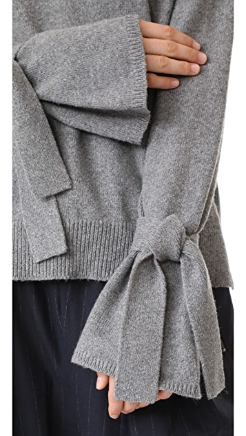 Madewell Tie Cuff Pullover