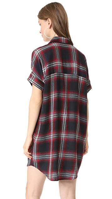 Madewell Courier Dress In Grunge Plaid