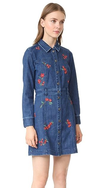 Madewell Denim Snap Front Dress
