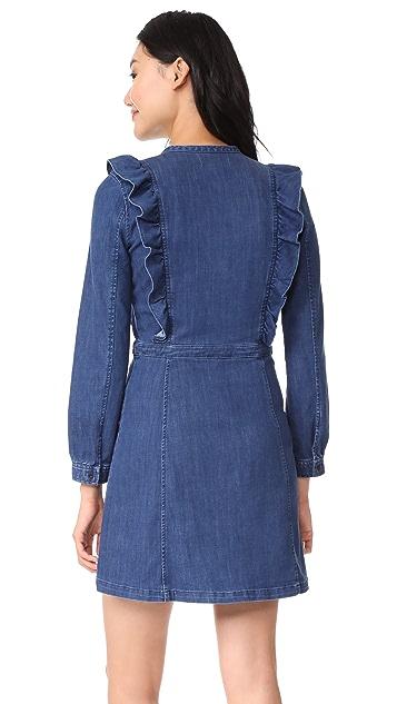 Madewell Denim Ruffle Waist Dress