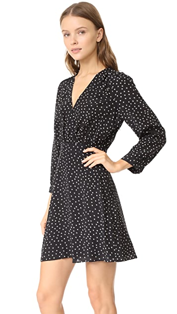 Madewell Silk Wrap Neckline Dress
