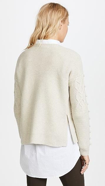 Madewell Пуловер с отделкой шишечками