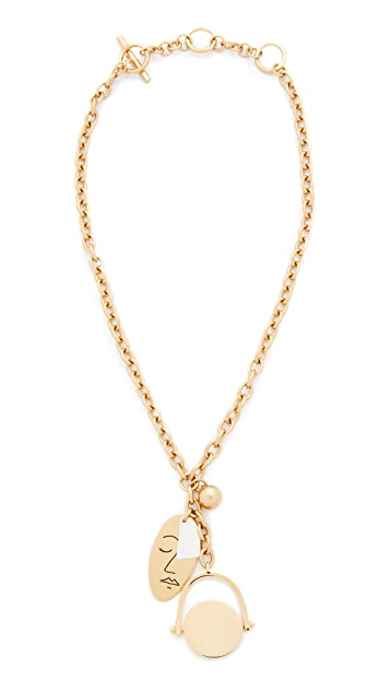 Madewell Face It Charm Lariat Necklace