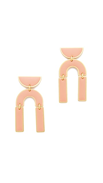 Madewell Modernism Half-Drop Earrings