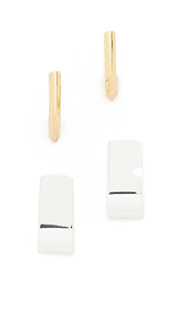 Madewell Two-Pack Hug Earrings