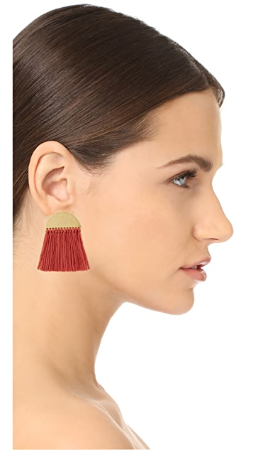 Madewell Half-Moon Fringe Earrings