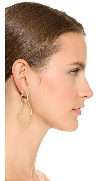 Madewell Abstract Link Hoop Earrings