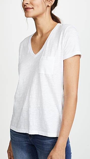 Madewell Whisper Cotton V Neck Pocket Tee